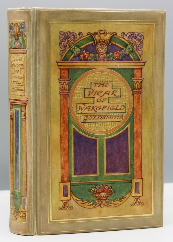 The Vicar of Wakefield. with Twenty-five Colored Illustrations by C.E. Brock. Cedric Chivers, Oliver, binder. Goldsmith.