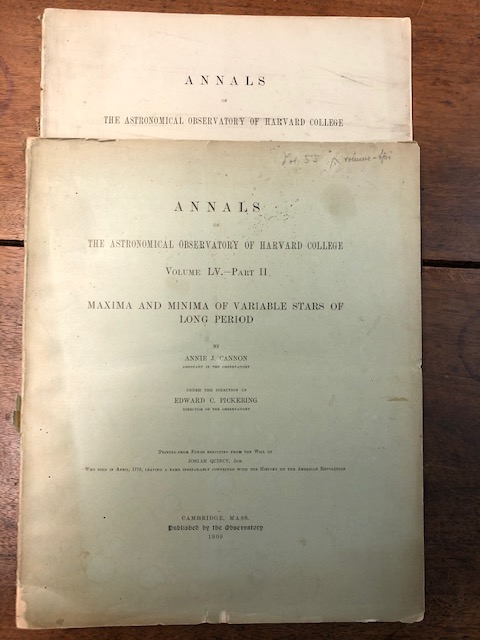 Second Catalogue of Variable Stars. [In] The Annals of the Astronomical Observatory of Harvard College. Volume LV. – Part I [of II]. Annie Cannon, Edward C. Pickering, ump.