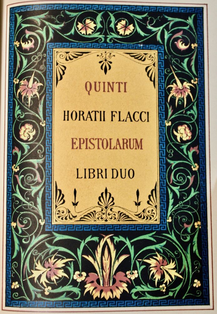 The Works of Horatius Quintus Flaccus Illustrated Chiefly from the Remains of Ancient Art. With a Life by the Rev. Henry Hart Milman. Horace, . Quintus Horatius Flaccus.