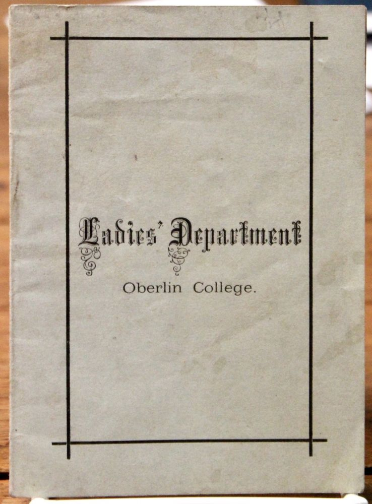 Laws and Regulations of the Ladies' Department of Oberlin College. Women. Education.