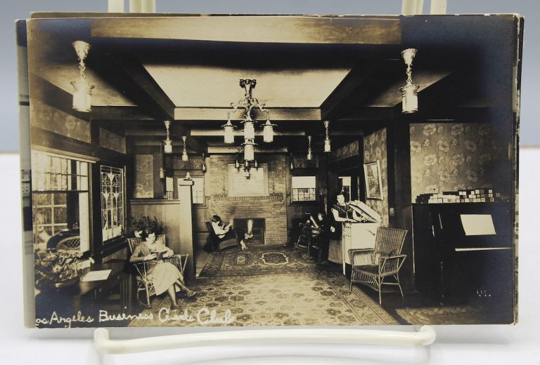 [Collection of five photo postcards showing the club's home for impoverished young women.]. Women, Los Angeles Girls' Business Club.