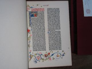[ Biblia Latina. Cover title: Biblia Sacra. A Facsimile of the Gutenberg Bible.]