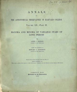 Second Catalogue of Variable Stars. [In] The Annals of the Astronomical Observatory of Harvard College. Volume LV. – Part I [of II].