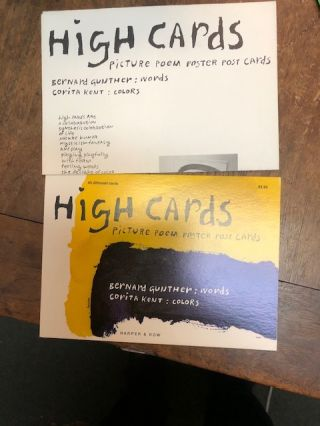 High Cards. Picture Poem Post Cards.