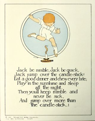 [ Nursery Rhymes for Healthy Habits Posters..]