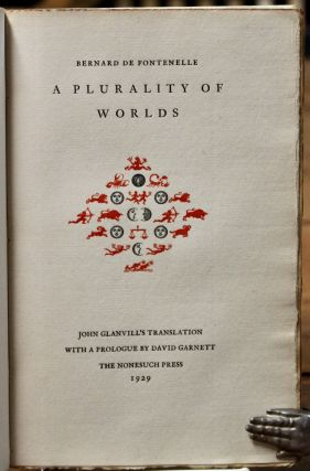 A Plurality of Words. John Glanvill's translation. With a prologue by David Garnett. Nonesuch...