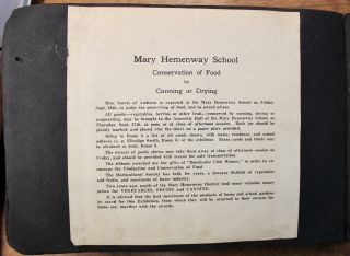 Photo album documenting the student gardeners at the Mary Hemenway School in Boston, participating in the United States School Garden Army (USSGA) program during and after World War I.