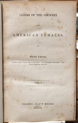 Claims of the Country on American Females.