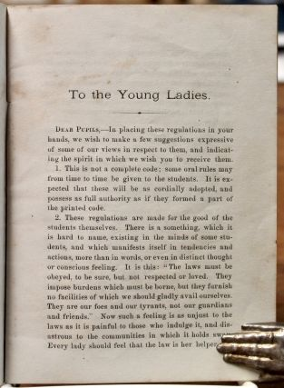 Laws and Regulations of the Ladies' Department of Oberlin College.