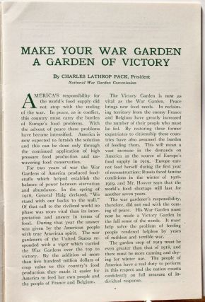 War Gardening and Home Storage of Vegetables.; Victory Edition 1919.
