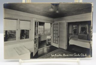 [Collection of five photo postcards showing the club's home for impoverished young women.]