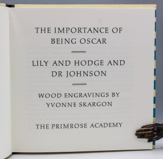 The Importance of Being Oscar. Lily and Hodge and Dr. Johnson.