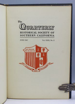 """""""Los Angeles Booksellers Fifty Years Ago,"""" In The Quarterly Historical Society of Southern California. Vol. XXIX, No. 2, pp. 85-92."""