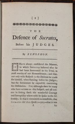 Xenophon's Memoirs of Socrates. With the defence of Socrates, before his judges. Translated from the original Greek…